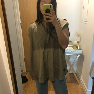 HELMUT LANG COLD SHOULDER BLOUSE SIZE SMALL